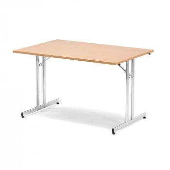 Skladací stôl Emily, 1200x800 mm, buk, chróm