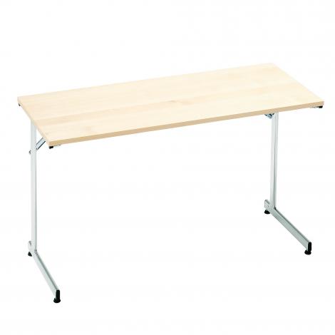 Skladací stôl Claire, 1200x500 mm, breza, chróm