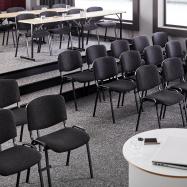 Skladací stôl Claire, 1200x500 mm, breza, čierna