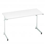 Skladací stôl Claire, 1200x500 mm, biela, chróm