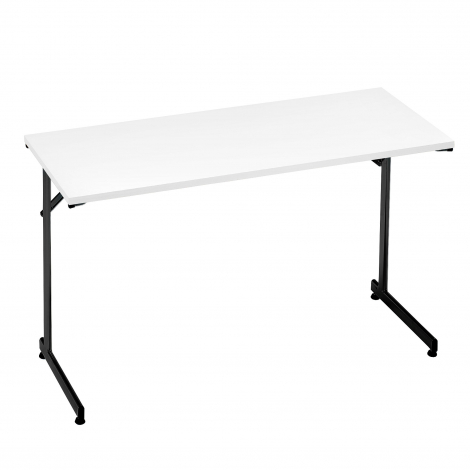 Skladací stôl Claire, 1200x500 mm, biela, čierna
