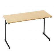 Skladací stôl Claire, 1200x600 mm, buk, čierna