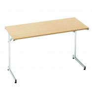 Skladací stôl Claire, 1200x600 mm, lamino buk, chróm