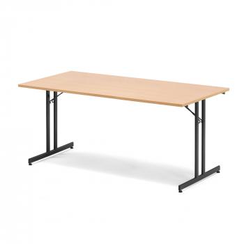 Skladací stôl Emily, 1800x800 mm, buk, čierna