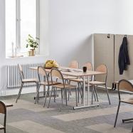 Skladací stôl Emily, 1800x800 mm, buk, chróm