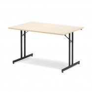 Skladací stôl Emily, 1200x800 mm, breza, čierna
