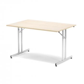 Skladací stôl Emily, 1200x800 mm, breza, chróm