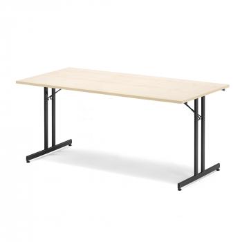 Skladací stôl Emily, 1800x800 mm, breza, čierna
