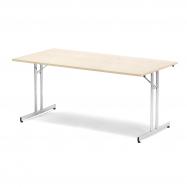 Skladací stôl Emily, 1800x800 mm, breza, chróm