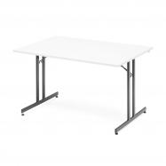 Skladací stôl Emily, 1200x800 mm, biela, čierna