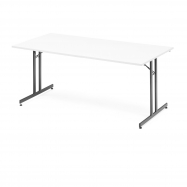 Skladací stôl Emily, 1800x800 mm, biela, čierna