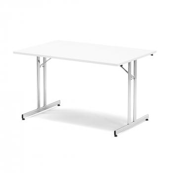 Skladací stôl Emily, 1800x800 mm, biela, chróm