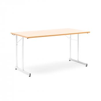 Skladací stôl Claire, 1400x700 mm, buk, chróm