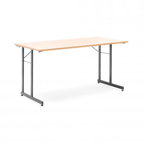 Skladací stôl Claire, 1400x700 mm, buk, čierna