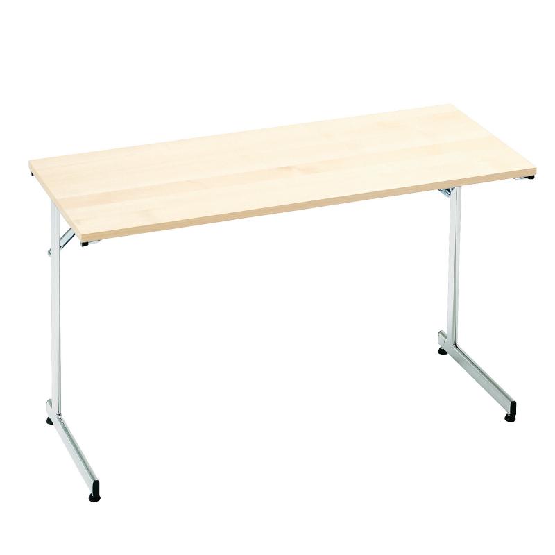 Skladací stôl Claire, 1200x600 mm, breza, chróm