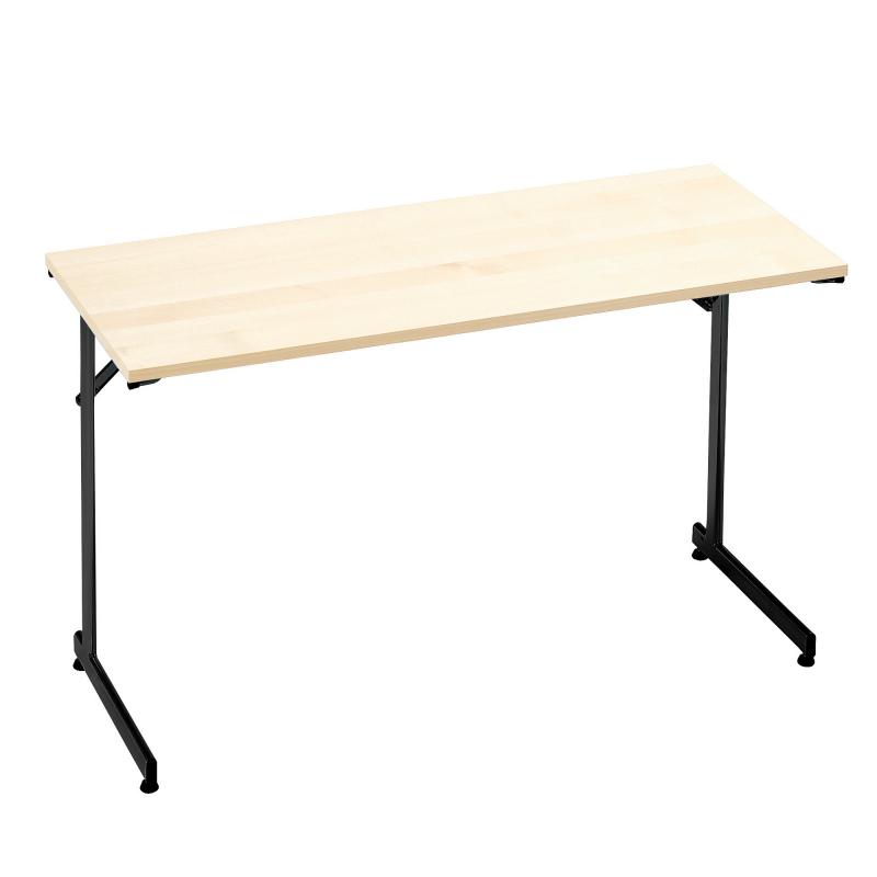 Skladací stôl Claire, 1200x600 mm, breza, čierna