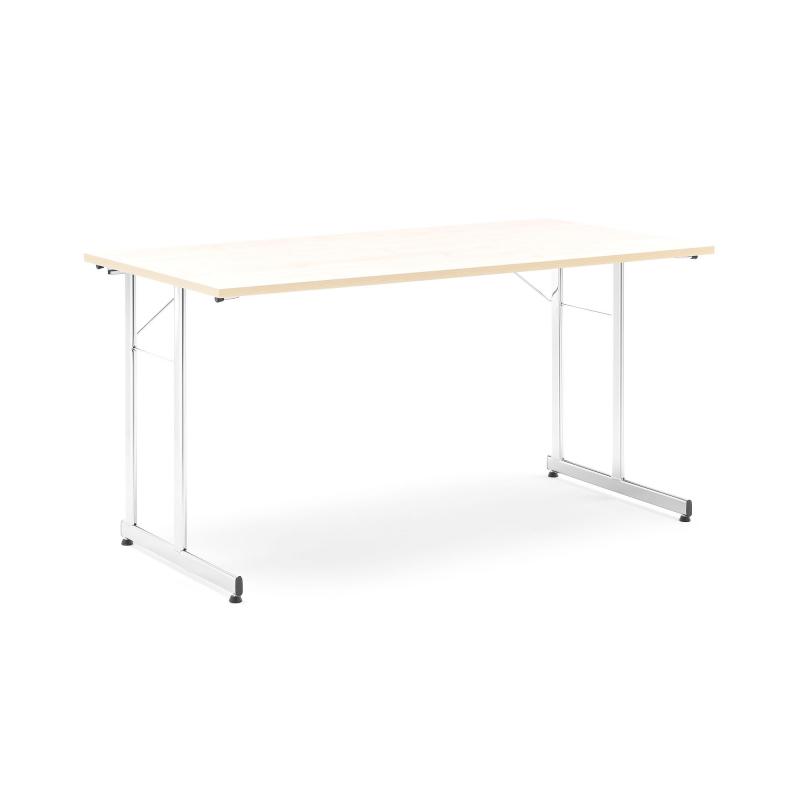 Skladací stôl Claire, 1400x700 mm, breza, chróm