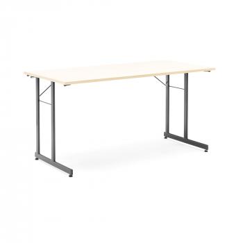 Skladací stôl Claire, 1400x700 mm, breza, čierna