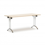 Skladací stôl Marina, 1600x800 mm, breza, chrómované nohy