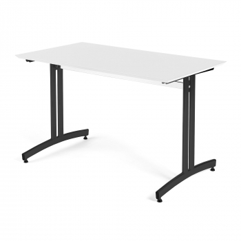 Jedálenský stôl Sanna, 1200 x 700 x V 720 mm, biela / čierna