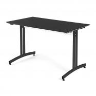 Jedálenský stôl Sanna, 1200x700 mm, HPL, čierna, čierna