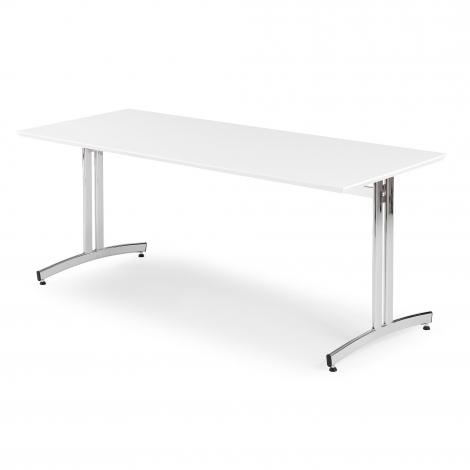 Jedálenský stôl Sanna, 1800x700 mm, HPL, biela, chróm