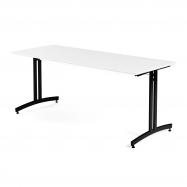 Jedálenský stôl Sanna, 1800x700 mm, HPL, biela, čierna