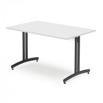 Jedálenský stôl Sanna, 1200x800 mm biela / čierna