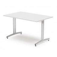 Jedálenský stôl Sanna, 1200x800 mm biela / chróm