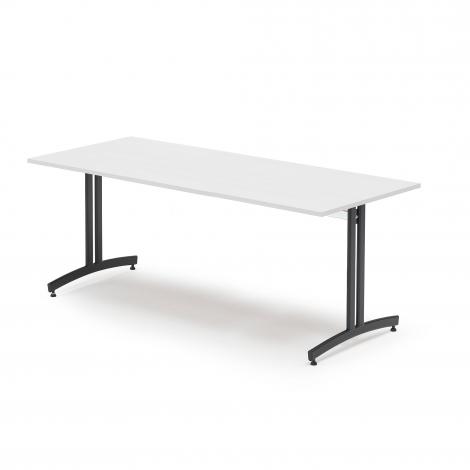Jedálenský stôl Sanna, 1800x800 mm biela / čierna