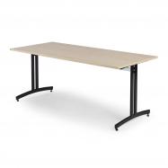 Jedálenský stôl Sanna, 1800x700 mm, breza, čierna