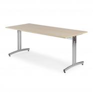 Jedálenský stôl Sanna, 1800x700 mm, breza, chróm