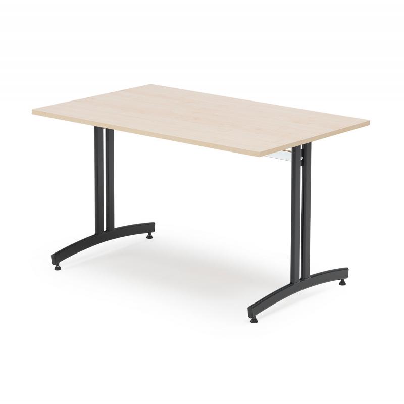 Jedálenský stôl Sanna, 1200x800 mm, breza, čierna