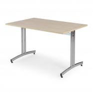 Jedálenský stôl Sanna, 1200x800 mm, breza, chróm