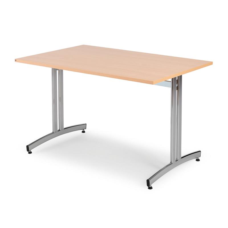 Jedálenský stôl Sanna, 1200x800 mm, buk, chróm