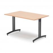Jedálenský stôl Sanna, 1200x800 mm, buk, čierna