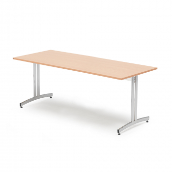 Jedálenský stôl Sanna, 1800x800 mm, buk, chróm