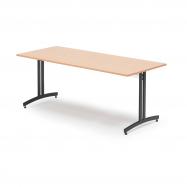 Jedálenský stôl Sanna, 1800x800 mm, buk, čierna