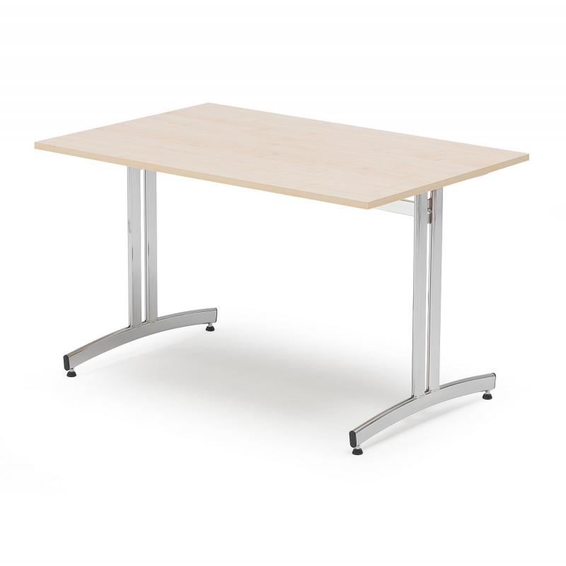 Jedálenský stôl Sanna, 1200x700 mm, breza, chróm