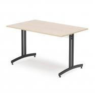 Jedálenský stôl Sanna, 1200x700 mm, breza, čierna