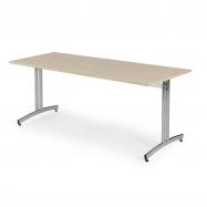 Jedálenský stôl Sanna, 1800x800 mm, breza, chróm