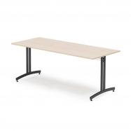 Jedálenský stôl Sanna, 1800x800 mm, breza, čierna