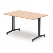 Jedálenský stôl Sanna, 1200x700 mm, buk, čierna