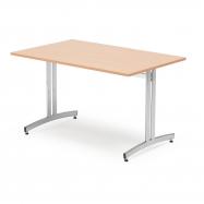 Jedálenský stôl Sanna, 1200x700 mm, buk, chróm