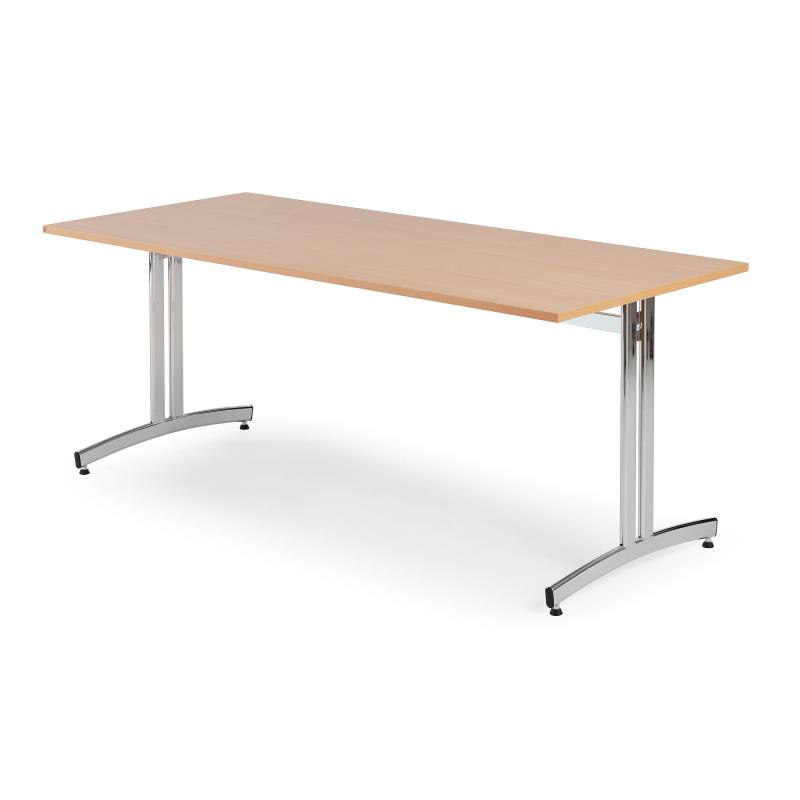 Jedálenský stôl Sanna, 1800x700 mm, buk, chróm