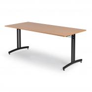 Jedálenský stôl Sanna, 1800x700 mm, buk, čierna