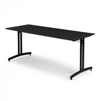 Jedálenský stôl Sanna, 1800x700 mm, HPL, čierna, čierna