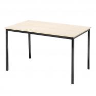 Jedálenský stôl Jamie, 1200x800 mm, breza, čierna