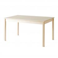 Jedálenský stôl Europa, 1400x800x720 mm, HPL, breza