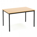 Jídelní stůl s klasickým vzhledem vhodný do každé podnikové jídelny. Stůl má bytelnou kovovou nosnou konstrukci a odolnou stolní desku z laminované dřevotřísky.   Odolná laminovaná deska Pevná konstrukce Klasický vzhled